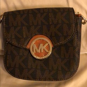 Michael Kors brown tan purse satchel